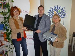 Präsentationstechnik für den Verein Lichtblicke e.V.
